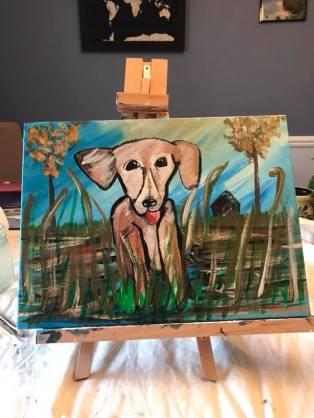 Bebe painting